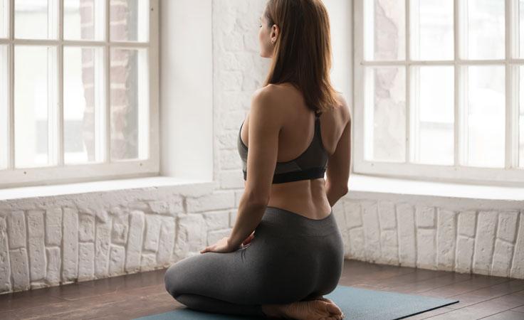 Zen-Meditation Haltung